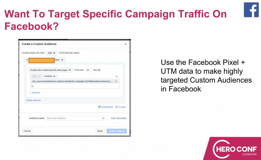 specific campaign facebook